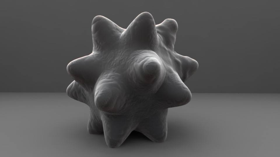 Render in the style of a Scanning Electron Microscope.