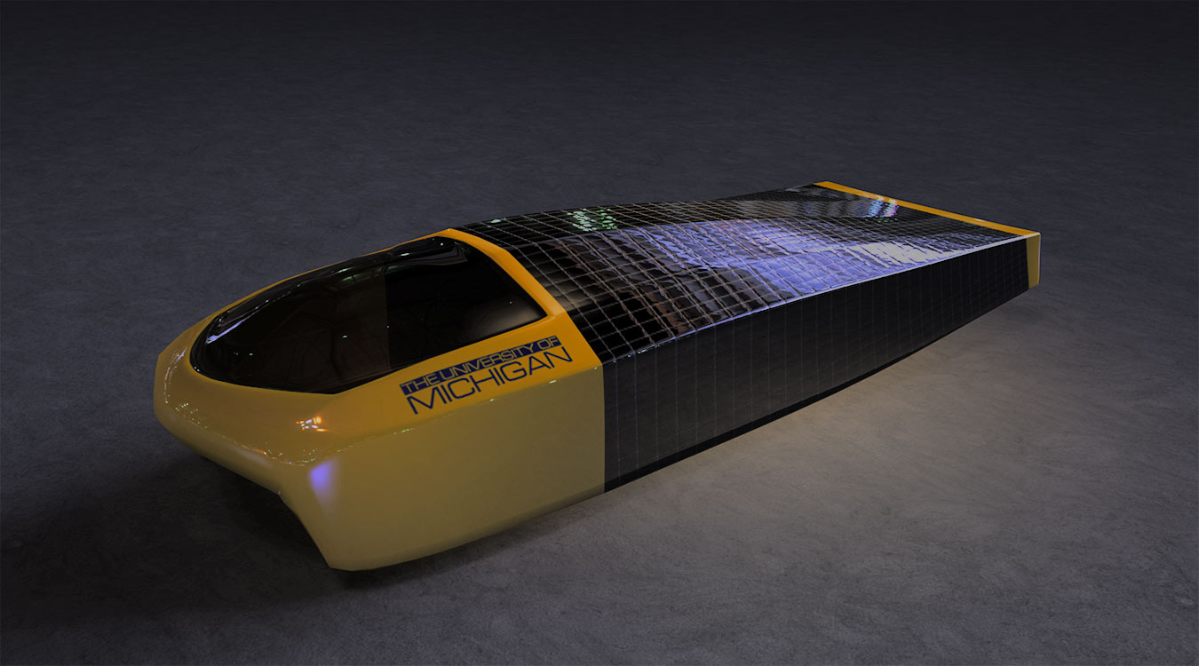 Sunrunner solar car render.